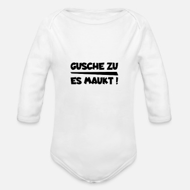 Dialect Mouth to it stinks Saxon dialect dialect - Organic Longsleeve Baby Bodysuit