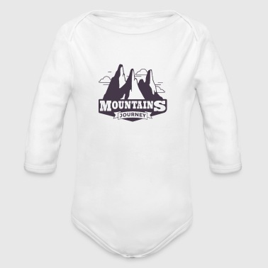 Mountains Mountains mountaineers mountaineering - Organic Longsleeve Baby Bodysuit
