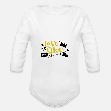 Shopping Love To Shop Gift Shop Shopping Shopping - Organic Long-Sleeved Baby Bodysuit