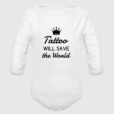 tatovering / tattoo / tatovert / biker - Økologisk langermet baby-body