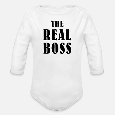 Boss The Real Boss Baby - Organic Long-Sleeved Baby Bodysuit