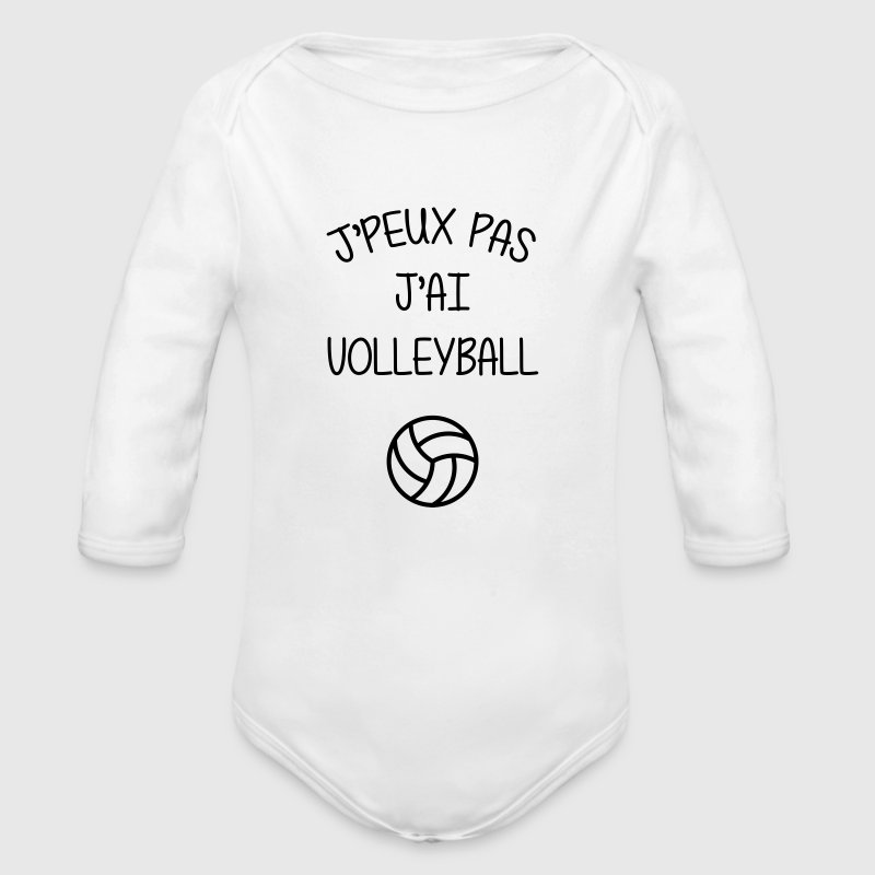 Volleyball / Volleyeur / Volley / Volley-ball - Body bébé bio manches longues
