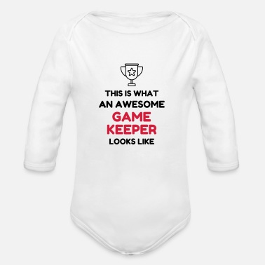 Game Keeper Hunting Wildhüter Garde Chasse - Organic Long-Sleeved Baby Bodysuit