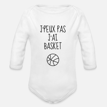 Basket-ball Basketball - Basket ball - Basket-ball - Baskette - Body bébé bio manches longues