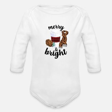 Bright Merry And Bright - Organic Long-Sleeved Baby Bodysuit