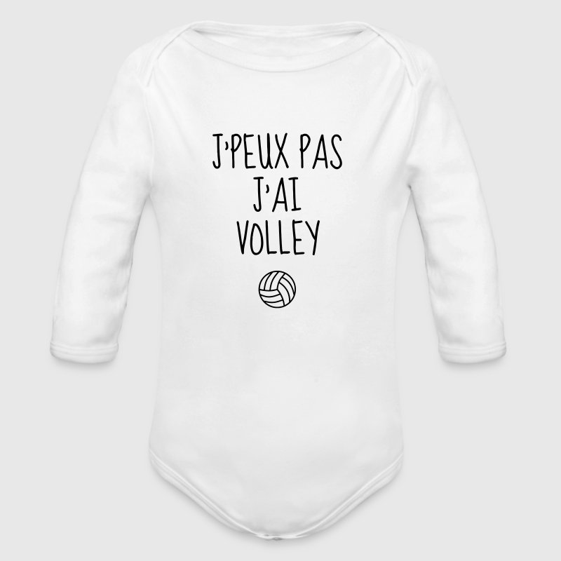 Volleyball - Volley Ball - Volley-Ball - Sport - Body bébé bio manches longues