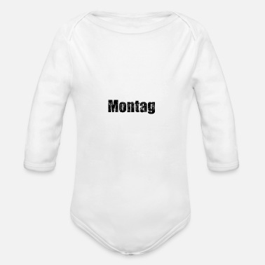 MONDAY weekdays days gift gift idea - Organic Long-Sleeved Baby Bodysuit