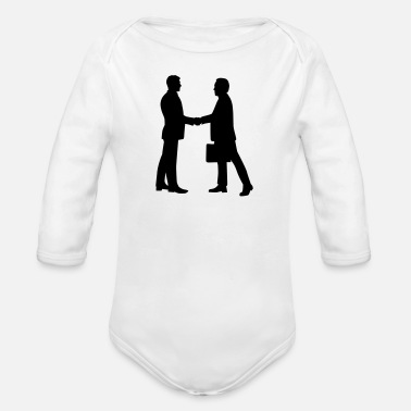 Business Business - Organic Long-Sleeved Baby Bodysuit