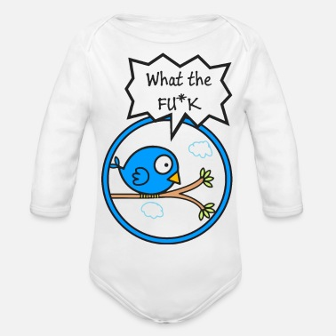 Fu K bird - Organic Long-Sleeved Baby Bodysuit