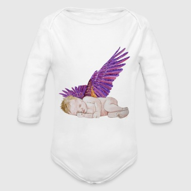 Kleiner Engel / Little angel Version 6  - Organic Longsleeve Baby Bodysuit