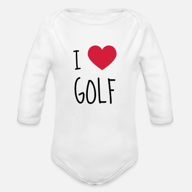 Golf Golf - Sport - Golfer - Club - Green - Game - Play - Vauvan pitkähihainen luomu-body