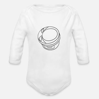 Piston piston - Organic Long-Sleeved Baby Bodysuit