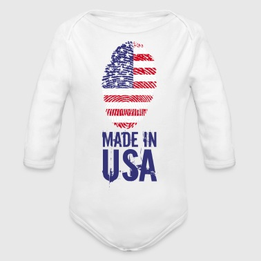 Made in USA / Made in USA Amérique - Body bébé bio manches longues