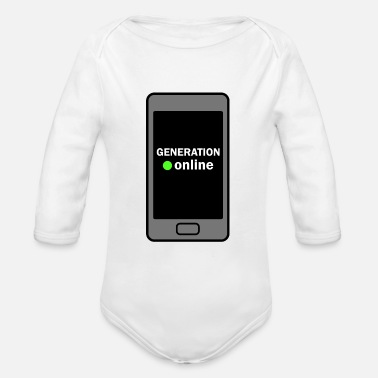 Online GENERATION ONLINE - Organic Long-Sleeved Baby Bodysuit
