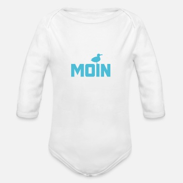 Ready For Vacation Moin seagull Ahoi North Sea Baltic Sea vacation coast beach - Organic Long-Sleeved Baby Bodysuit
