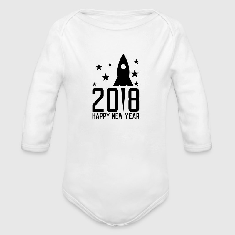 Happy New Year 2018 - Organic Longsleeve Baby Bodysuit