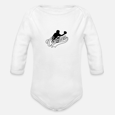 Team Sport Catcher Baseball Team Sport Team Sport - Organic Long-Sleeved Baby Bodysuit