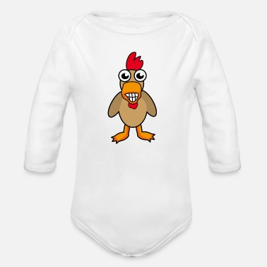 Rooster Rooster - Organic Long-Sleeved Baby Bodysuit