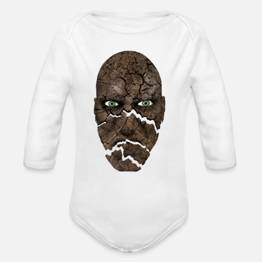 Head head - head - Organic Long-Sleeved Baby Bodysuit