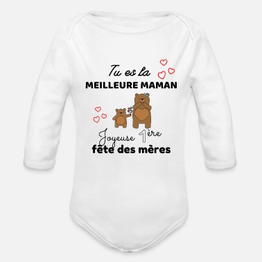 Spreadshirt Ma Maman Cest La Meilleure Body B/éb/é Bio Manches Longues