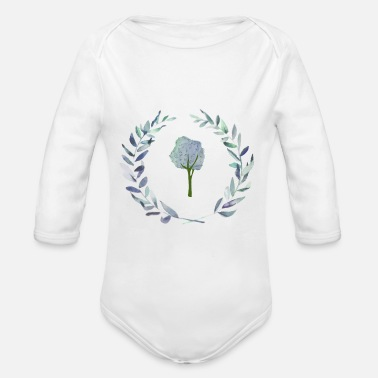 Watercolor Watercolor - Organic Long-Sleeved Baby Bodysuit