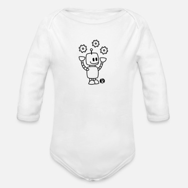 Happy Juggling Robot - Baby Bio Langarmbody