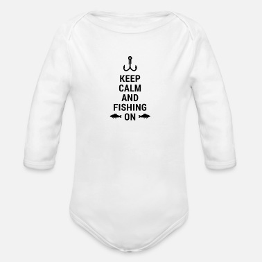 Unusual SUPER SHIRT FOR FISHING FRIENDS AND HOBBY ANGLERS GREAT - Organic Long-Sleeved Baby Bodysuit