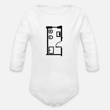 Bathroom  bathroom _floor _plan _p1 - Organic Longsleeve Baby Bodysuit