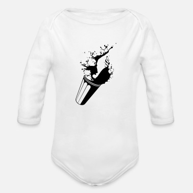 Drink DRINK - Organic Long-Sleeved Baby Bodysuit