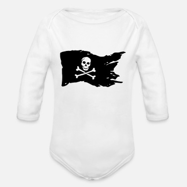 Pirate Flag pirate flag - Organic Long-Sleeved Baby Bodysuit