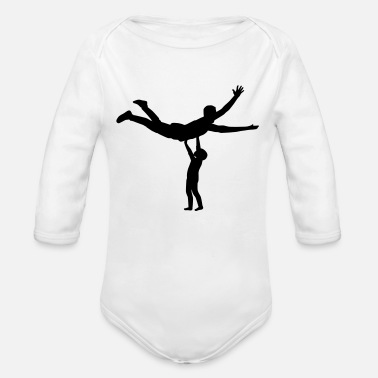 Father kid set - Organic Long-Sleeved Baby Bodysuit