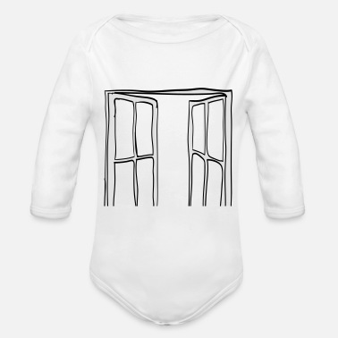 Windows Window - Organic Long-Sleeved Baby Bodysuit