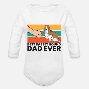 Basset Hound Best Basset Hound Dad Ever Father Of Basset Hound - Baby Bio Langarmbody