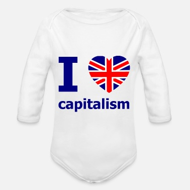 Union Jack UK Kapitalismus - Baby Bio Langarmbody