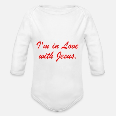 I'm in love with Jesus - Organic Long-Sleeved Baby Bodysuit