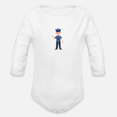 The Office Police officer - Organic Long-Sleeved Baby Bodysuit
