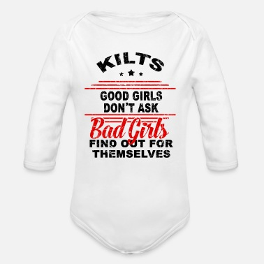 Retro Underwear Kilts Good Girls dont ask GRUNGE - Organic Long-Sleeved Baby Bodysuit