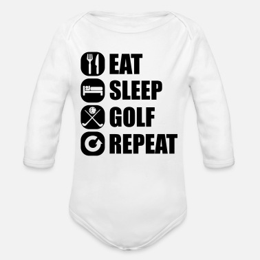 Golf eat_sleep_golf_repeat_3_1f - Vauvan pitkähihainen luomu-body