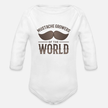 Mustasch Mustache Growers of the World - Organic Long-Sleeved Baby Bodysuit