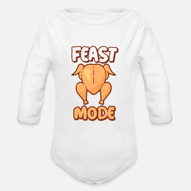 Feast Day Feast mode - Organic Long-Sleeved Baby Bodysuit