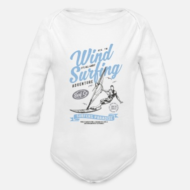 Wind Wind Surfing Windsurfing - Organic Long-Sleeved Baby Bodysuit