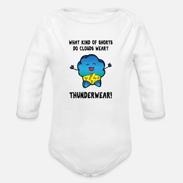 Retro Underwear Underwear pun meteorology design shirt - Organic Long-Sleeved Baby Bodysuit