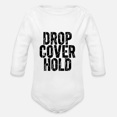 Earthquake Drop, Cover, Hold! Earthquake - Earthquake drill - Organic Long-Sleeved Baby Bodysuit