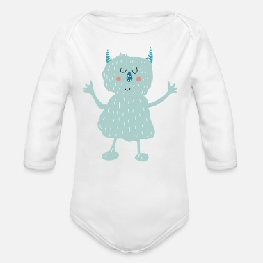 Babyparty Monster - Baby Bio Langarmbody