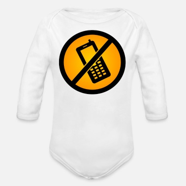 Phone phone - Organic Long-Sleeved Baby Bodysuit