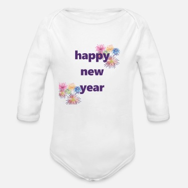 Happy New Year happy new year - Baby Bio-Langarm-Body