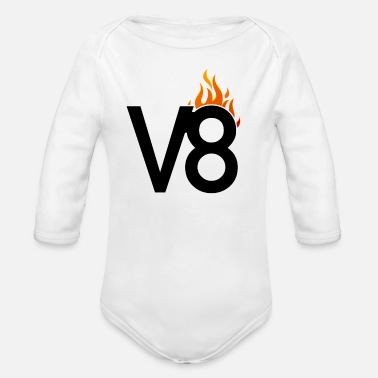 V8 V8 engine - Organic Long-Sleeved Baby Bodysuit