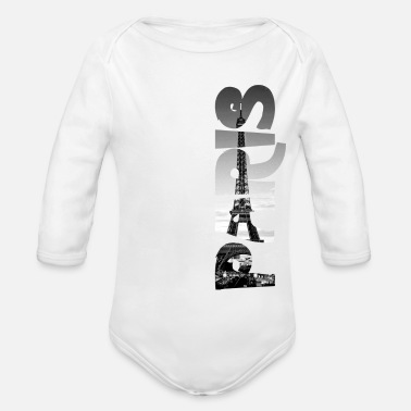 Paris Eiffel Tower - Organic Long-Sleeved Baby Bodysuit