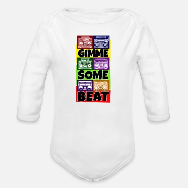 Break Dance Hip Hop Beat Deutschrap Breakdance DJ Graffiti MC - Organic Long-Sleeved Baby Bodysuit