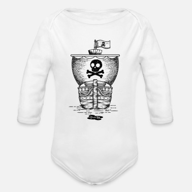 Pirate Ship pirate ship - Organic Long-Sleeved Baby Bodysuit